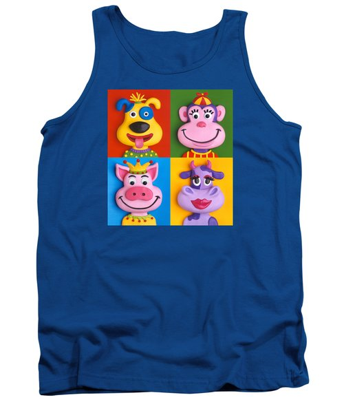 Four Animal Faces Tank Top