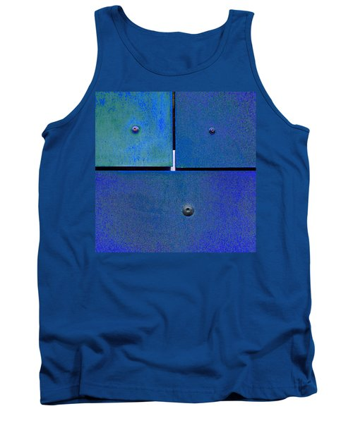 Four Five Six - Colorful Rust - Blue Tank Top