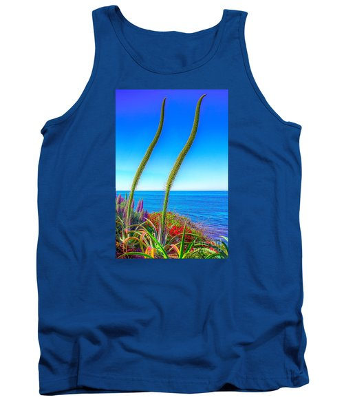 Tank Top featuring the photograph Foxtails On The Pacific by Jim Carrell