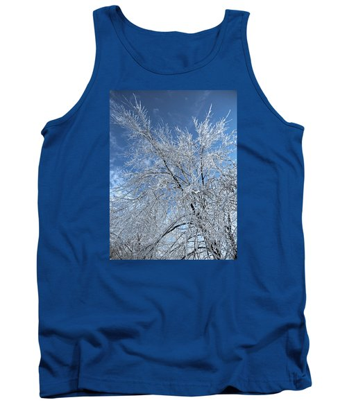 Tank Top featuring the photograph Freezing Rain ... by Juergen Weiss