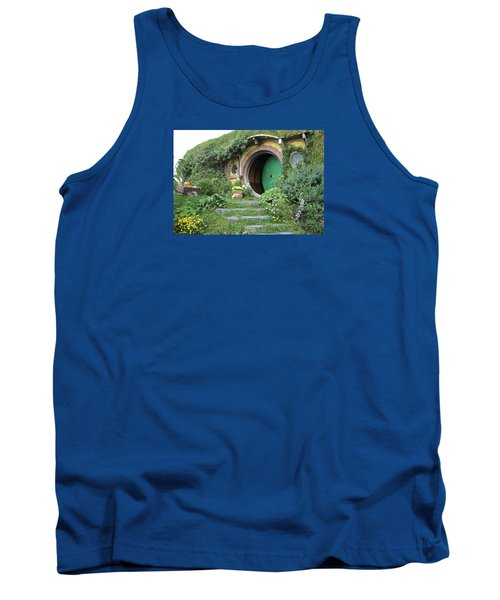 Frodo Baggins Lives Here Tank Top by Venetia Featherstone-Witty