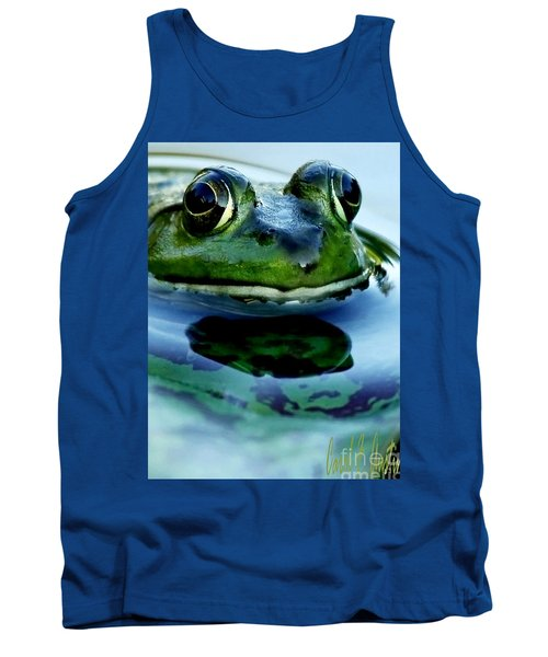 Green Frog I Only Have Eyes For You Tank Top by Carol F Austin