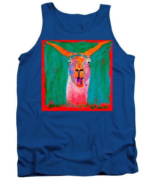 Funky Llama Art Print Tank Top