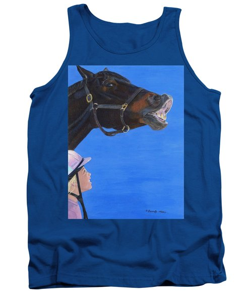 Funny Face - Horse And Child Tank Top by Patricia Barmatz