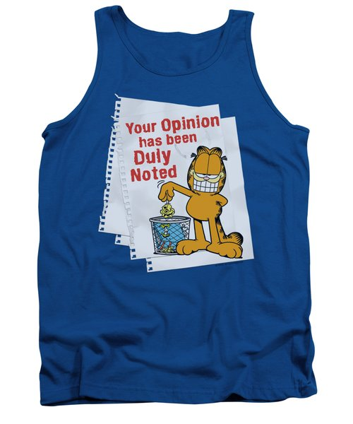 Garfield - Duly Noted Tank Top