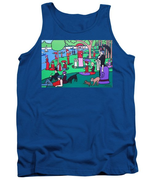 George Seurat- A Cyclops Sunday Afternoon On The Island Of La Grande Jatte Tank Top
