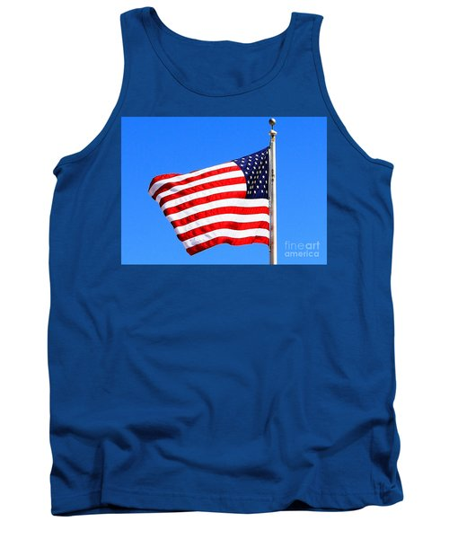 Tank Top featuring the photograph God Bless America by Judy Palkimas