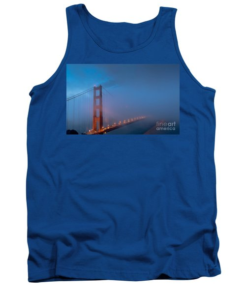 Golden Gate At Blue Hour Tank Top
