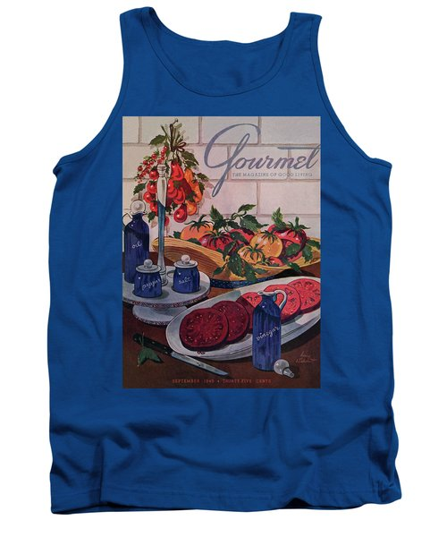 Gourmet Cover Of Tomatoes And Seasoning Tank Top