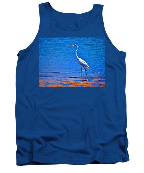 Great Egret Tank Top by Ludwig Keck