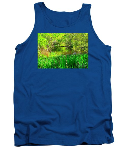 Tank Top featuring the photograph Green As Emerald's by Michael Hoard