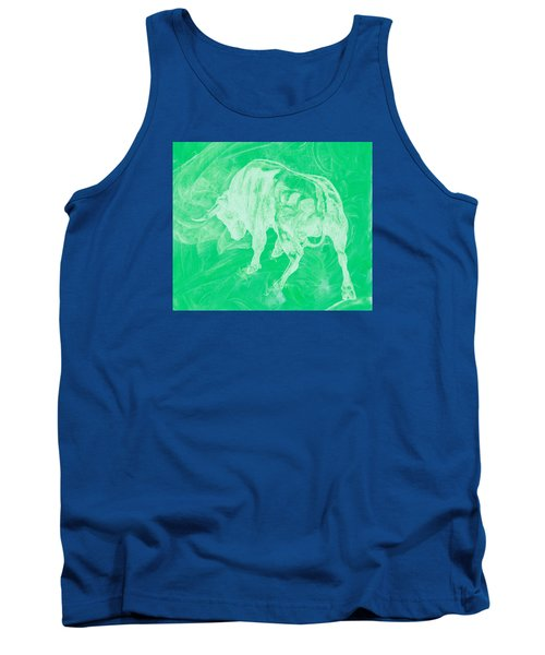 Green Bull Negative Tank Top