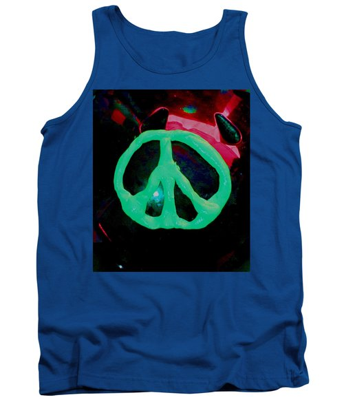 Peace Symbol Tank Top by Dan Twyman