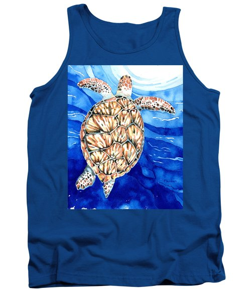 Green Sea Turtle Surfacing Tank Top
