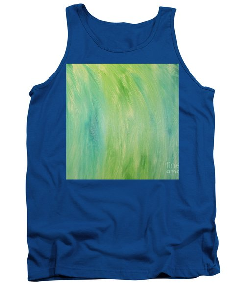 Green Shades Tank Top by Barbara Yearty