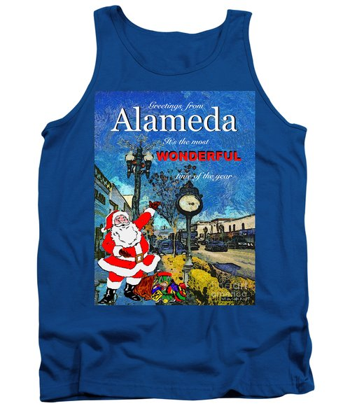 Tank Top featuring the photograph Alameda Christmas Greeting by Linda Weinstock