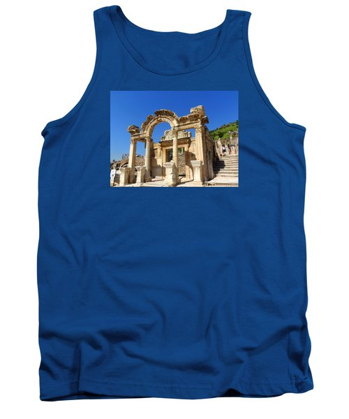 Tank Top featuring the photograph Hadrian Temple Ephesus by Lou Ann Bagnall