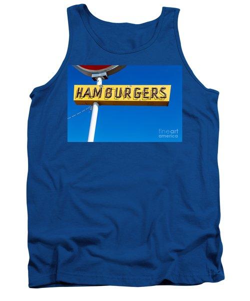 Hamburgers Old Neon Sign Tank Top