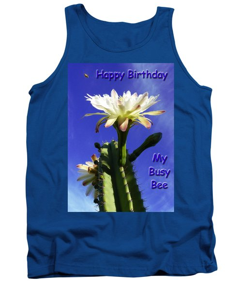 Happy Birthday Card And Print 13 Tank Top