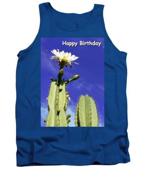 Happy Birthday Card And Print 17 Tank Top