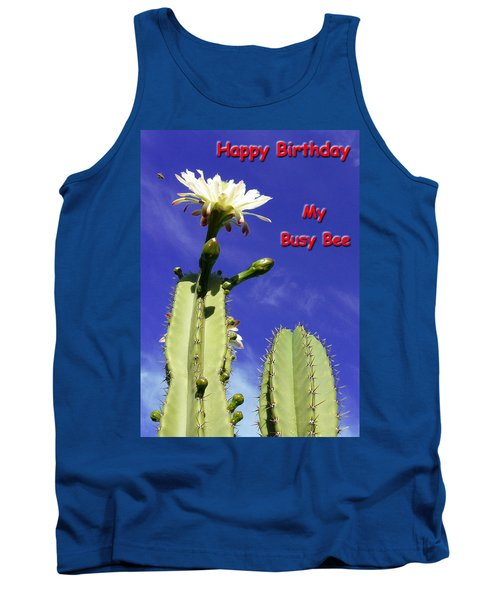 Happy Birthday Card And Print 21 Tank Top
