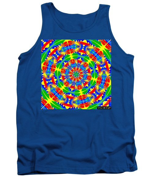 Tank Top featuring the photograph Happy Hands Mandala by Linda Weinstock