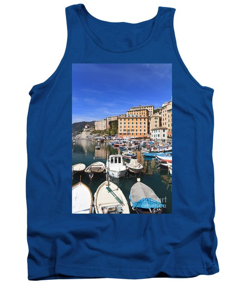 harbor in Camogli - Italy Tank Top by Antonio Scarpi
