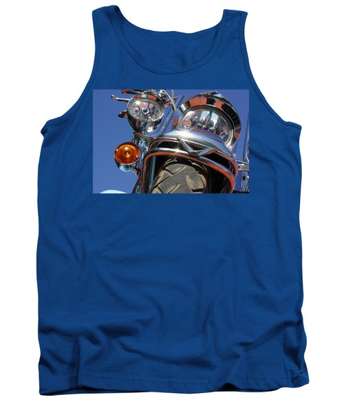Tank Top featuring the photograph Harley Close Up by Shoal Hollingsworth