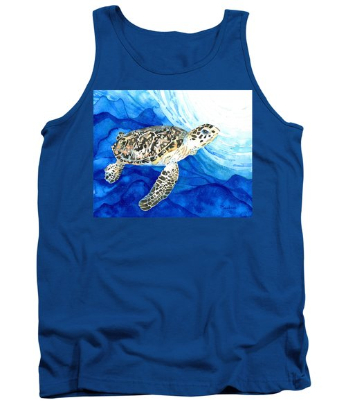 Hawksbill Sea Turtle 2 Tank Top