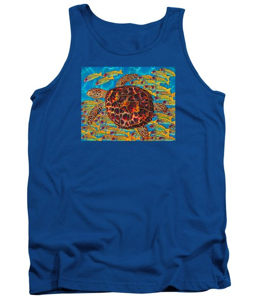 Hawksbill Sea  Turtle And  Snappers Tank Top