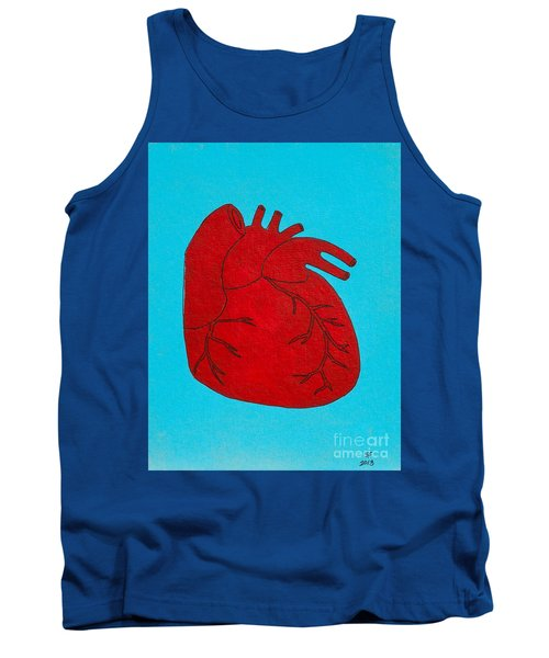 Heart Red Tank Top by Stefanie Forck