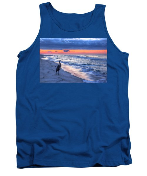 Heron On Mobile Beach Tank Top