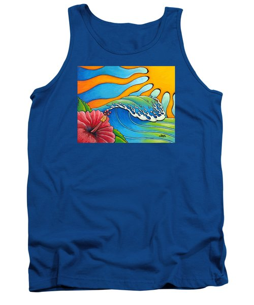 Hibiscus Wave Tank Top