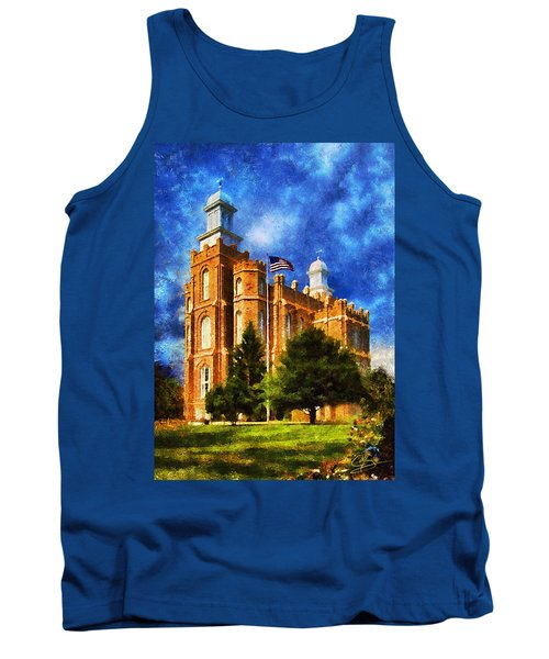 Tank Top featuring the digital art House Of Learning by Greg Collins