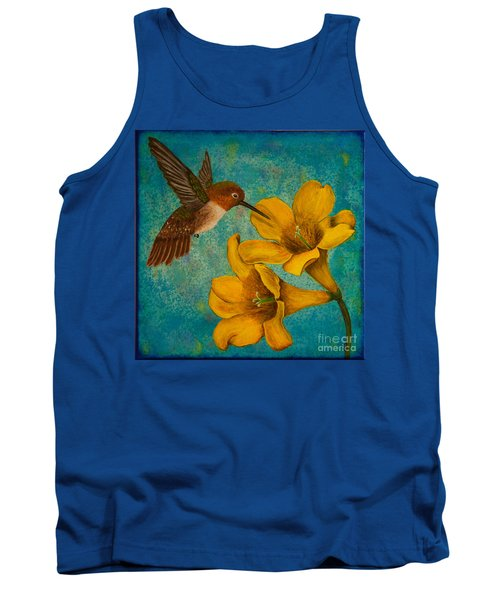 Hummingbird With Yellow Jasmine Tank Top