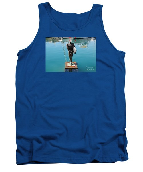 Tank Top featuring the photograph Icarus With His Surfboard by Linda Prewer