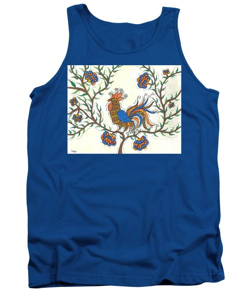 Tank Top featuring the painting In The Garden - Barnyard Style by Susie WEBER