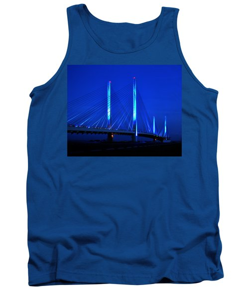 Indian River Bridge At Night Tank Top