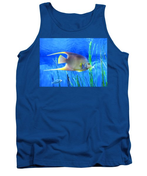 Into Blue - Tropical Fish By Sharon Cummings Tank Top