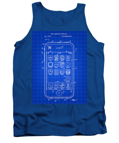iPhone Patent - Blue Tank Top