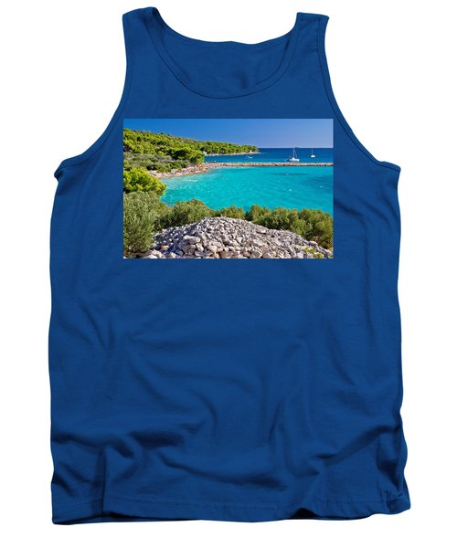 Island Murter Turquoise Lagoon Beach Tank Top by Brch Photography