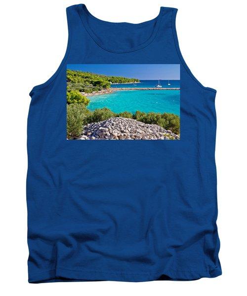 Island Murter Turquoise Lagoon Beach Tank Top