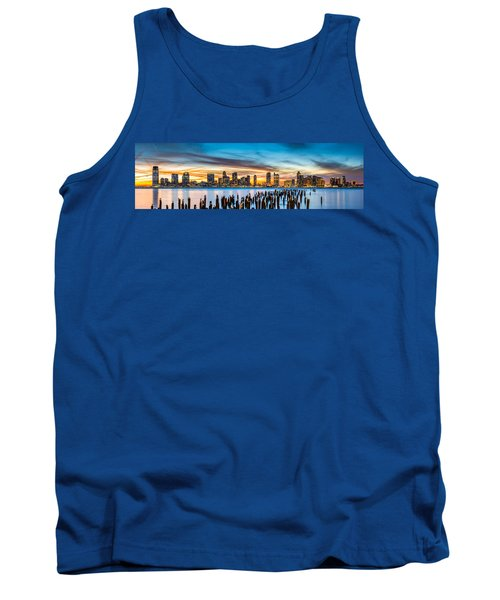 Jersey City Panorama At Sunset Tank Top