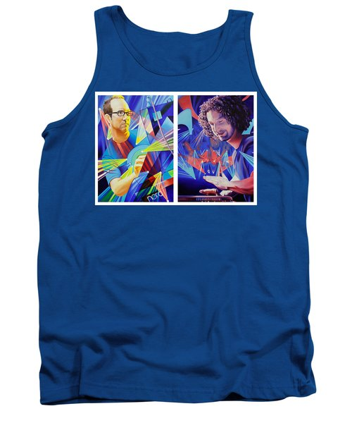 Tank Top featuring the painting Joel And Andy by Joshua Morton