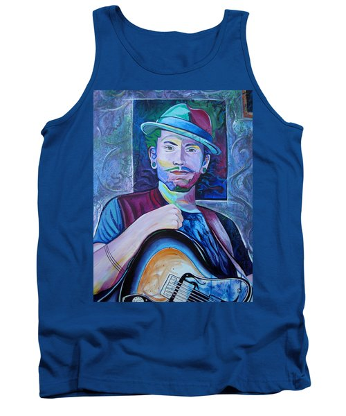 Tank Top featuring the painting John Butler by Joshua Morton