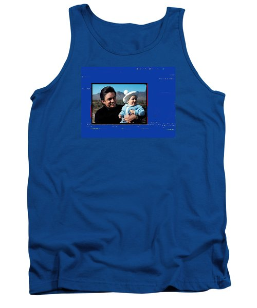 Tank Top featuring the photograph Johnny Cash John Carter Cash Old Tucson Arizona 1971 by David Lee Guss
