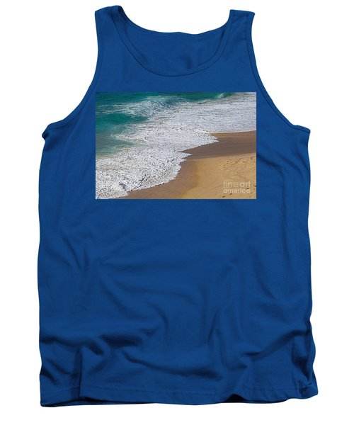 Just Waves And Sand By Kaye Menner Tank Top
