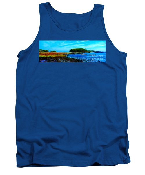 Tank Top featuring the photograph Kennepunkport Vaughn Island  by Tom Jelen