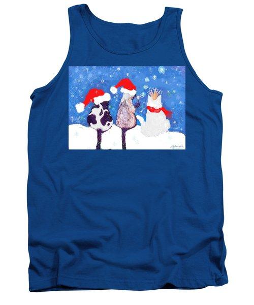 Kitty Christmas Tank Top