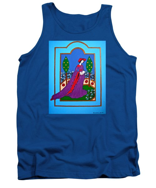Lady In A Garden Tank Top by Stephanie Moore